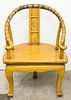 Chinese Lacquered Horseshoe-Back Armchair