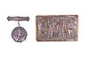 Sterling Silver Medal & Bronze Cowboy Buckle