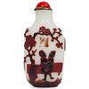 Antique Chinese Peking Glass Erotic Snuff Bottle