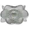 """Lalique Crystal """"Three Anemones"""" Candle Holder"""