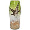 Moser Glass Flying Eagle High Relief Vase