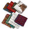 (8pc) Designer Silk Scarves