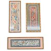 (3Pc) Antique Chinese Silk Embroideries