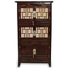 Antique Oriental Lacquered Wood Cabinet