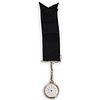 14K Waltham Pocket Watch Brooch Clock