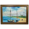 Norman Wright (American, Highwaymen) Oil on Board Painting