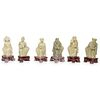 (6 Pc) Chinese Soapstone Carved Figurines