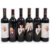 """(6 Bottles) """"Marilyn Monroe"""" Wine Bottles Grouping"""