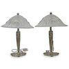 (2 Pc) Georges Leleu Style Art Deco Table Lamps