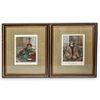 (2 Pc) Mamluk & Egyptian Framed Color Lithographs