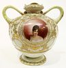 19th C. German Hand Painted Porcelain Vase
