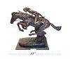 A Large Remington Patina-ted Bronze Statue