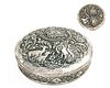 A Persian Engraved Silver Covered Box, Heavy weight