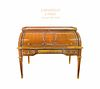 Mid 19th C French BEURDELEY Ormolu-Mounted Rolltop Desk