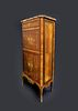 19th C. French Inlaid Marquetry Cabinet Marble Top