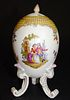 19th Century German Meissen Footed Egg Lidded Cup