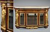 A French Figural Bronze Mounted Vitrine Cabinet