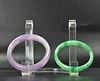 Two Chinese Jadeite Bangle Bracelets