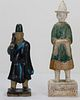 Two Chinese Antique Pottery Figures