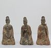 Three Chinese Antique Pottery Musician Figures
