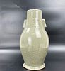 A Chinese Celadon Porcelain Vase with Double Handle