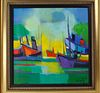Marcel Mouly Oil Painting On the Canvas Vapeurs Au