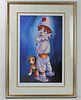 Clown And Dog Signed and Numbered Framed