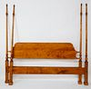 D.R. Dimes Tiger Maple Four Poster King Bed