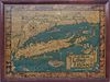 """Vintage 1930's Courtland Smith Pictorial, """"Map of Long Island"""""""