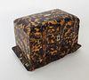 19th Century Regency Tortoiseshell Double Compartment Tea Caddy