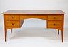 Stephen Swift Cherry Double Bank Five Drawer Desk