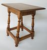 Antique New England Tiger Maple and Cherry Tavern Table