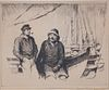 """Gordon Hope Grant Black and White Lithograph """"Two Sailors"""""""