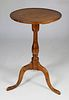 Early Eldred Wheeler Custom Queen Anne Tiger Maple Candlestand