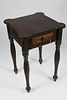 American Folk Art Carved and Turned Workstand