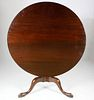 English Queen Anne Mahogany Breakfast Tilt Top Table, 18th Century