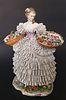 Sitzendorf Porcelain Figure of a Flower Lady