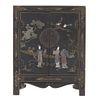 Gabinete. SXX. Estilo chinesco. Elaborado en madera laqueada. 2 puertas abatibles. Decorado con esmalte dorado. 56 x 44 x 20 cm.