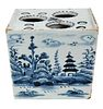English Delftware Blue and White Flower Brick