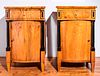 German Biedermeier Walnut Nightstands, Pr