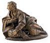 Continental Clay Sculpture John the Baptist w Lamb