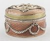 Russian Fabergé Silver, Diamonds, & Enamel Box