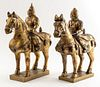 Chinese Gilt Qin Dynasty Manner Horse And Rider, 2