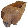 Carved Wood Trough