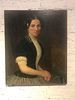 19th C. Portrait of Woman Oil on Canvas Rutherford