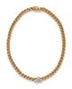 CARTIER, YELLOW GOLD AND DIAMOND NECKLACE