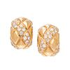 VAN CLEEF & ARPELS, YELLOW GOLD AND DIAMOND EARCLIPS