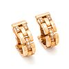 CARTIER, YELLOW GOLD AND DIAMOND 'MAILLON PANTHÈRE' EARCLIPS