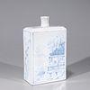 Korean Blue & White Porcelain Flask