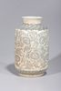 Large Korean Blue & White Porcelain Vase
